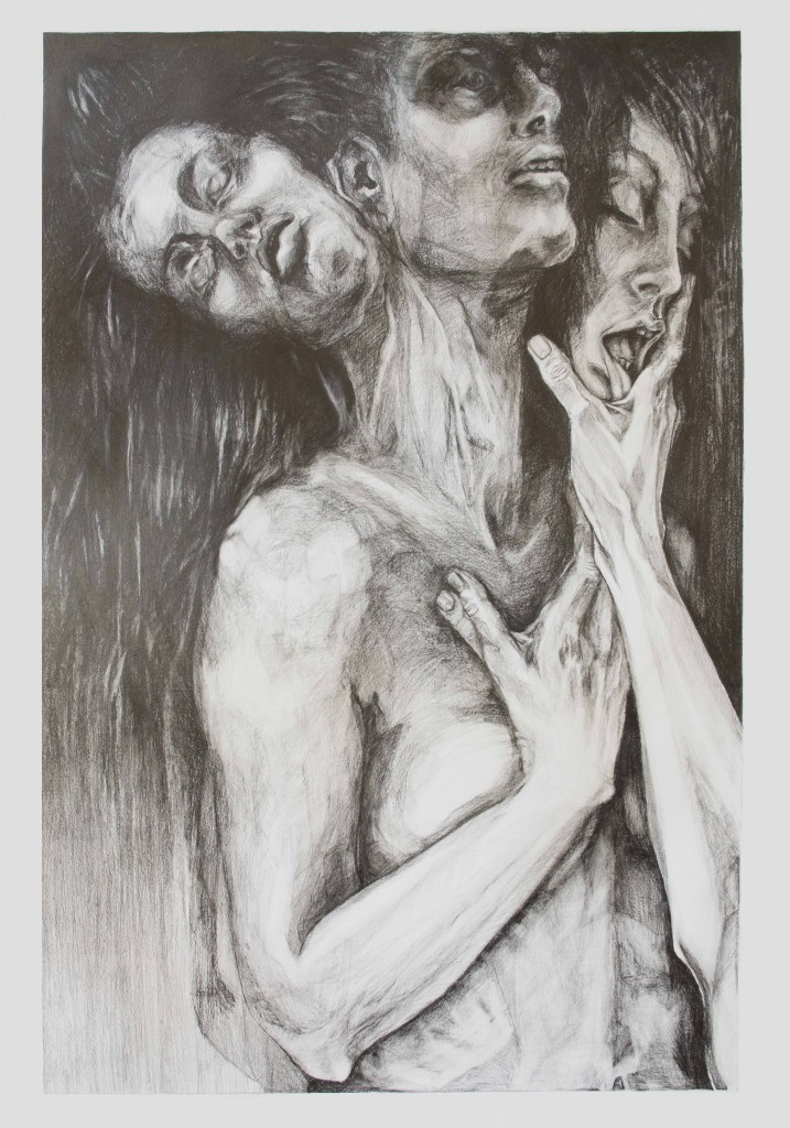 Ecstasy Graphite on paper 100 x 70 cm.