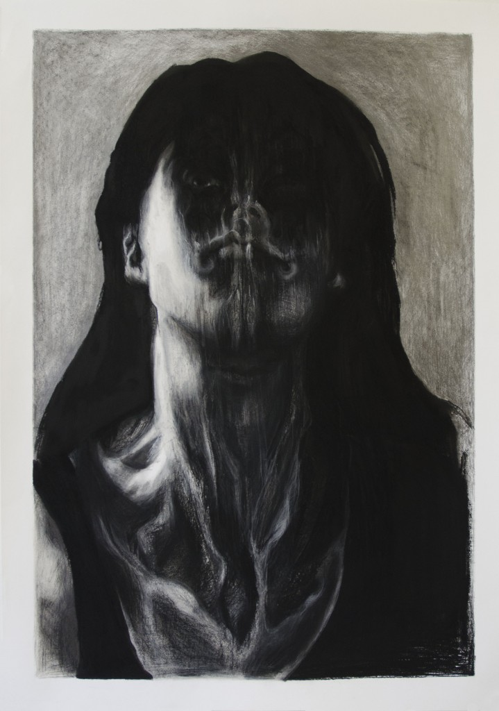 Self-portrait Graphite and charchoal on paper 100 x 70 cm.