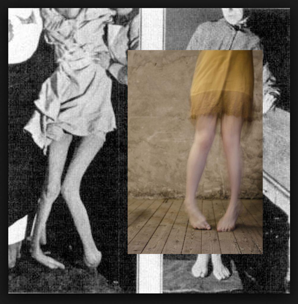 Boukje van Iperen | Associatie - Na een delirium Links- originele foto Hysterie; Recht - eigen werk